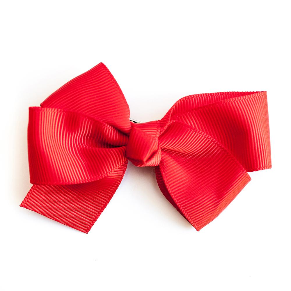 Small Grosgrain Red Bows - Set of 2