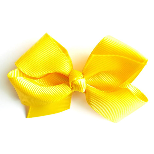 Small Grosgrain Yellow Bows - Set of 2