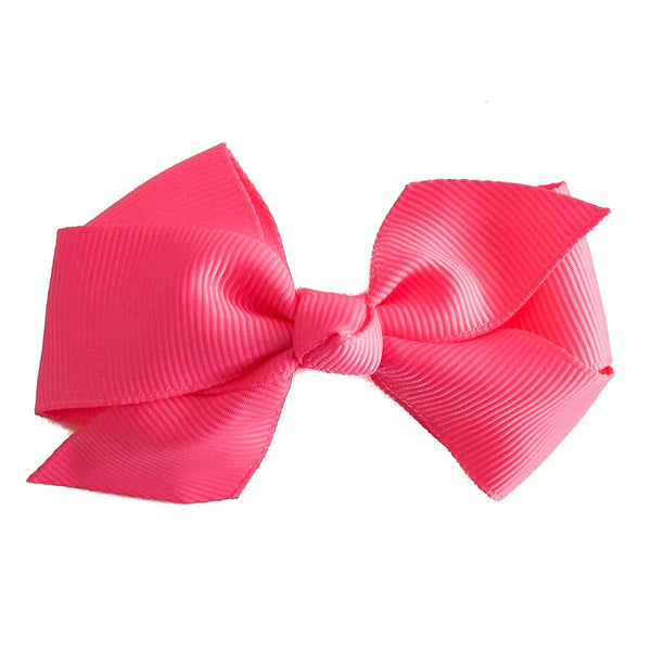 Small Grosgrain Hot Pink Bows - Set of 2