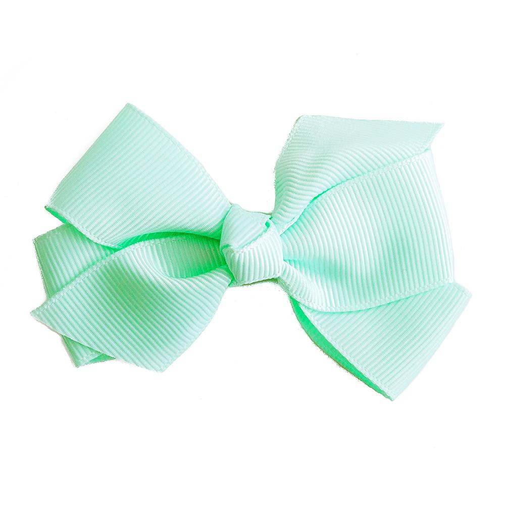 Small Grosgrain Mint Bows - Set of 2