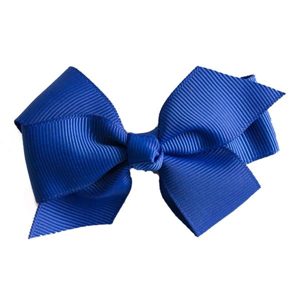 Small Grosgrain Cobolt Blue Bows - Set of 2