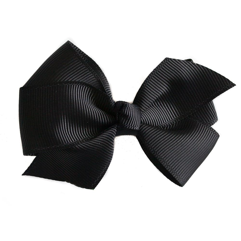 Small Grosgrain Black Bows - Set of 2