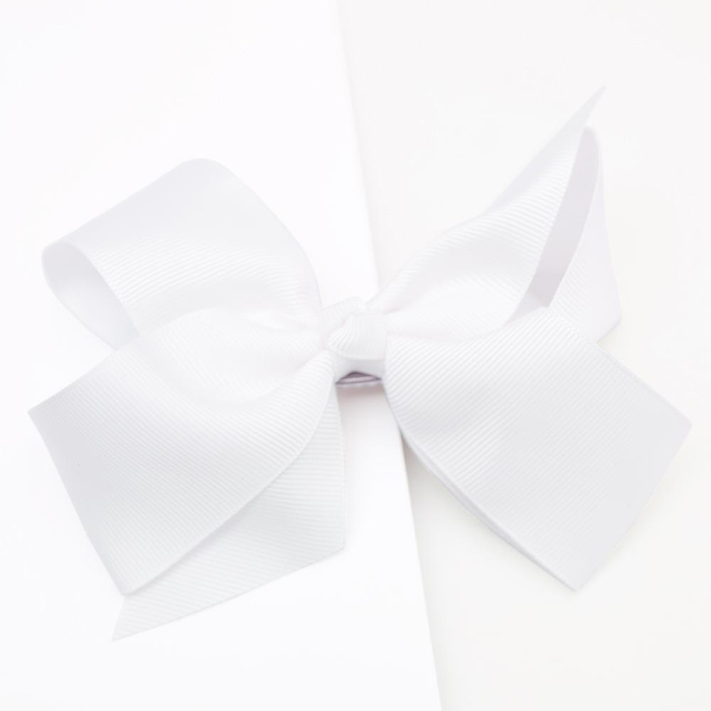 Large Grosgrain White Bow