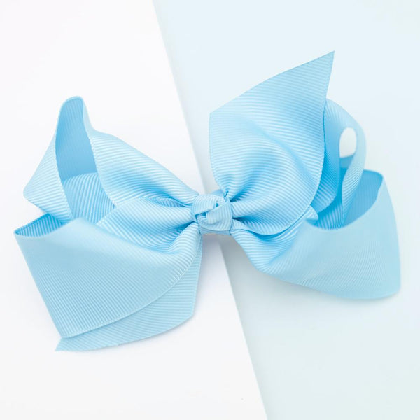 Large Grosgrain Blue Bow