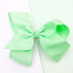 Large Grosgrain Mint Bow