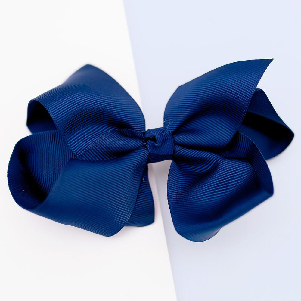 Large Grosgrain Navy Bow