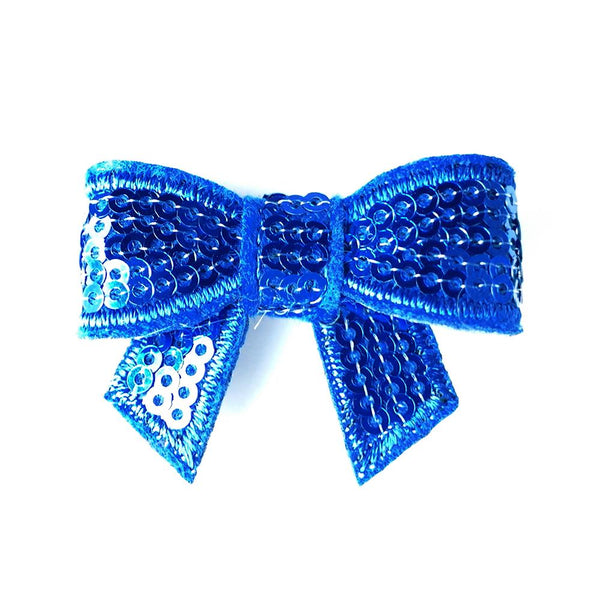 Cobolt Sequin Bows - Set of 2