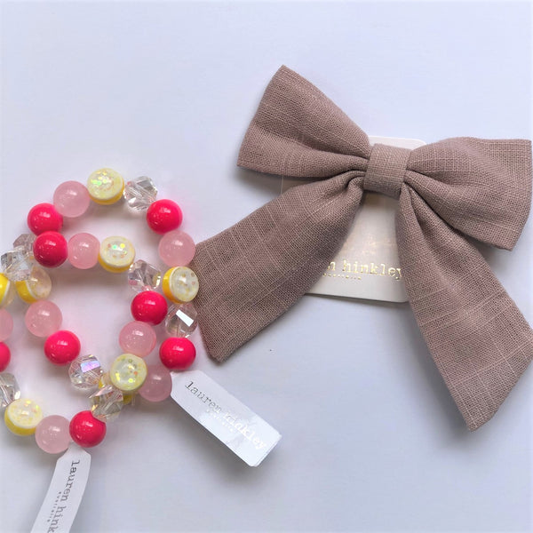 Linen Bows - Set of 2 various colours available NEW