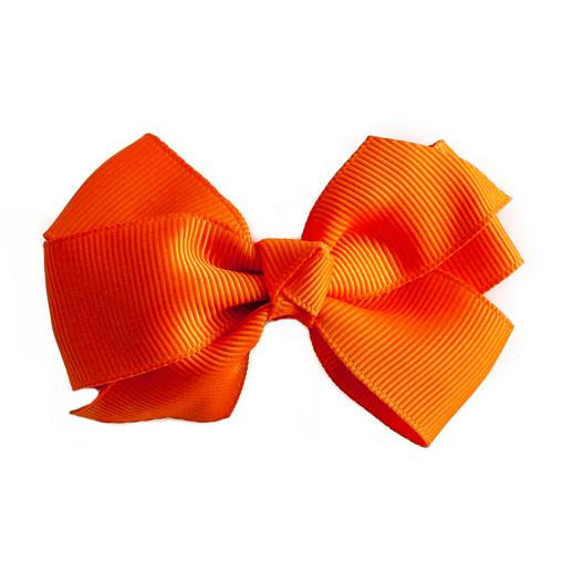 Small Grosgrain Orange Bows - Set of 2