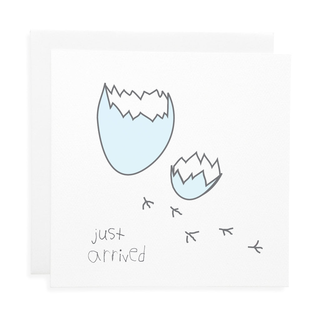 Just Arrived Blue Baby Card