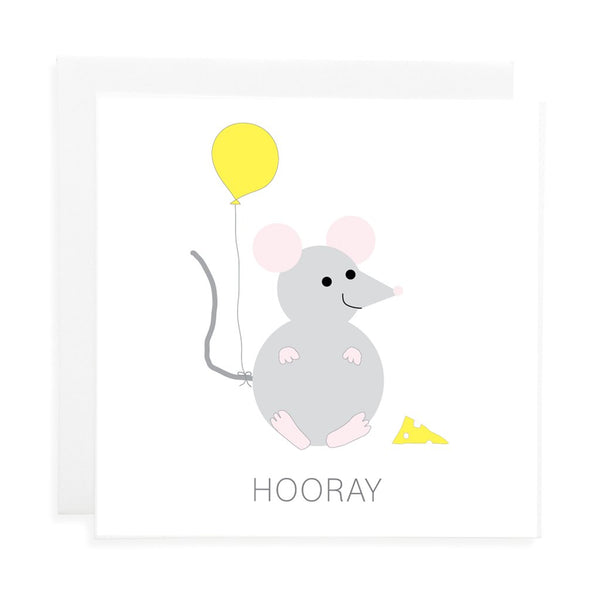 Mouse Hooray Card