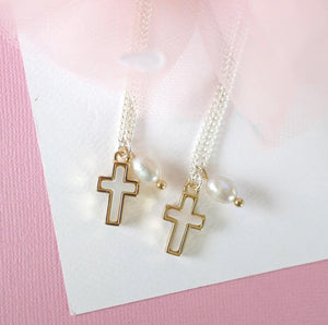 Mother-Daughter Twinning Necklace Set- Cross