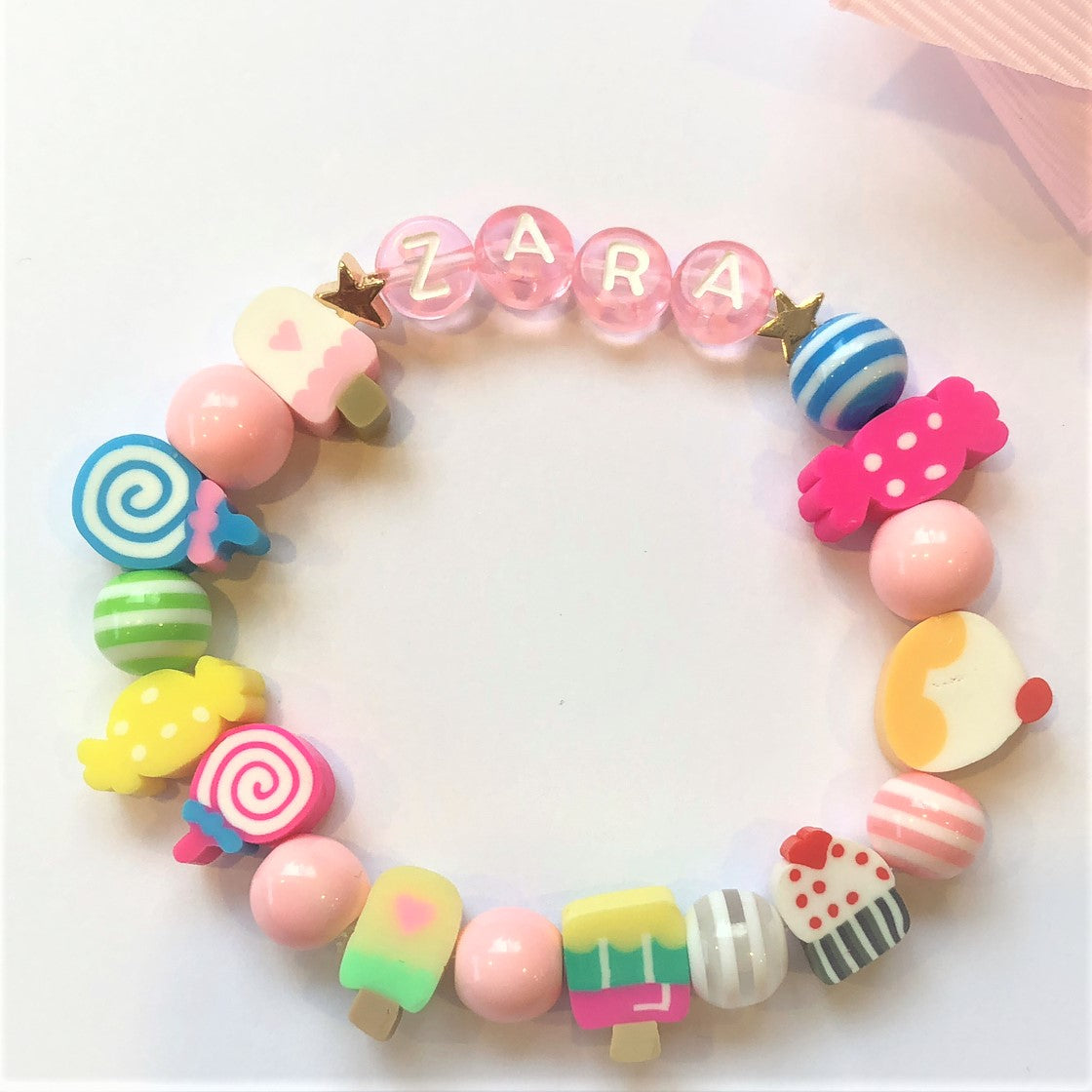 Personalised Party Bag Elastic Bracelet