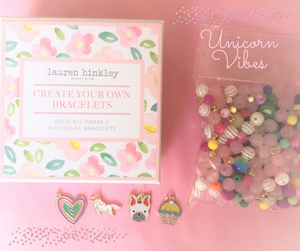 Make your Own Designer Bracelets Kit - Theme:  Unicorn Vibes
