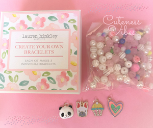 Make your Own Designer Bracelets Kit - Theme:  Cuteness Vibes