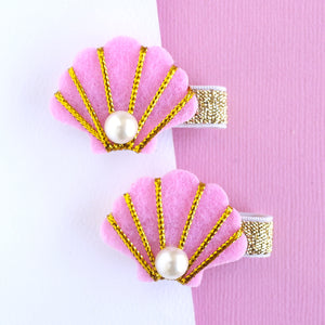 Pink Shell Clip - Set of 2