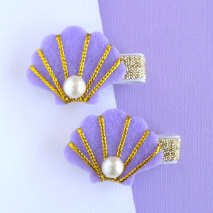 Purple Shell Clip - Set of 2