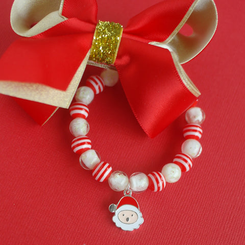 Glow in the Dark Bracelet with Santa Charm