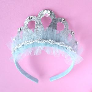 Blue Pearl and Tulle Crown- one left