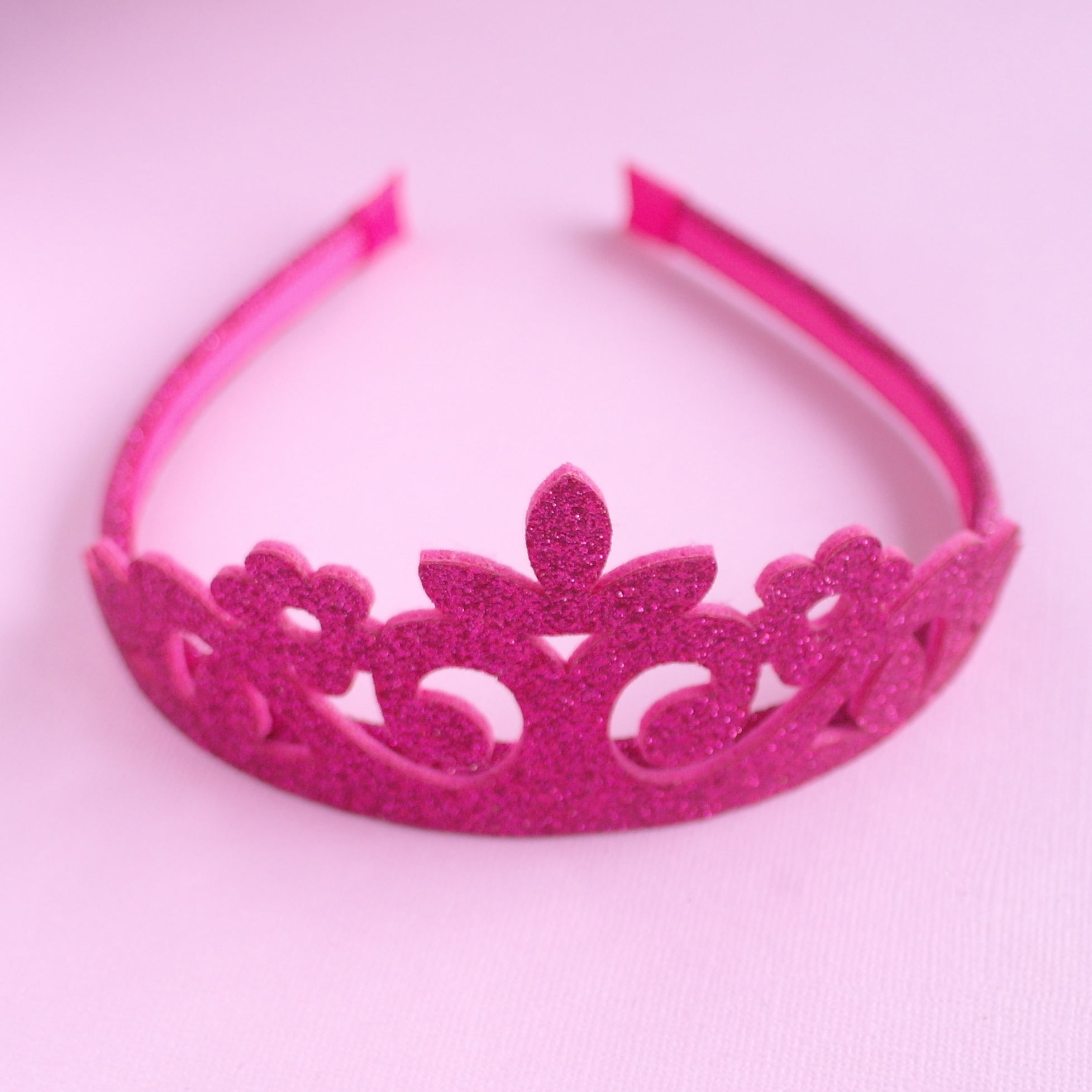 Pink Glitter Princess Crown