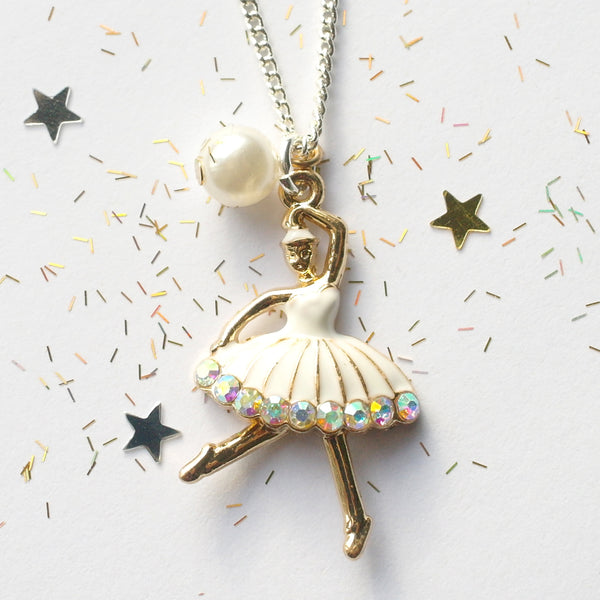 Gold Ballerina Necklace
