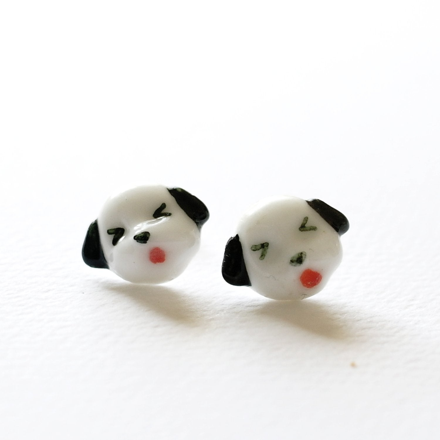 Lil Doggy Ceramic Earrings
