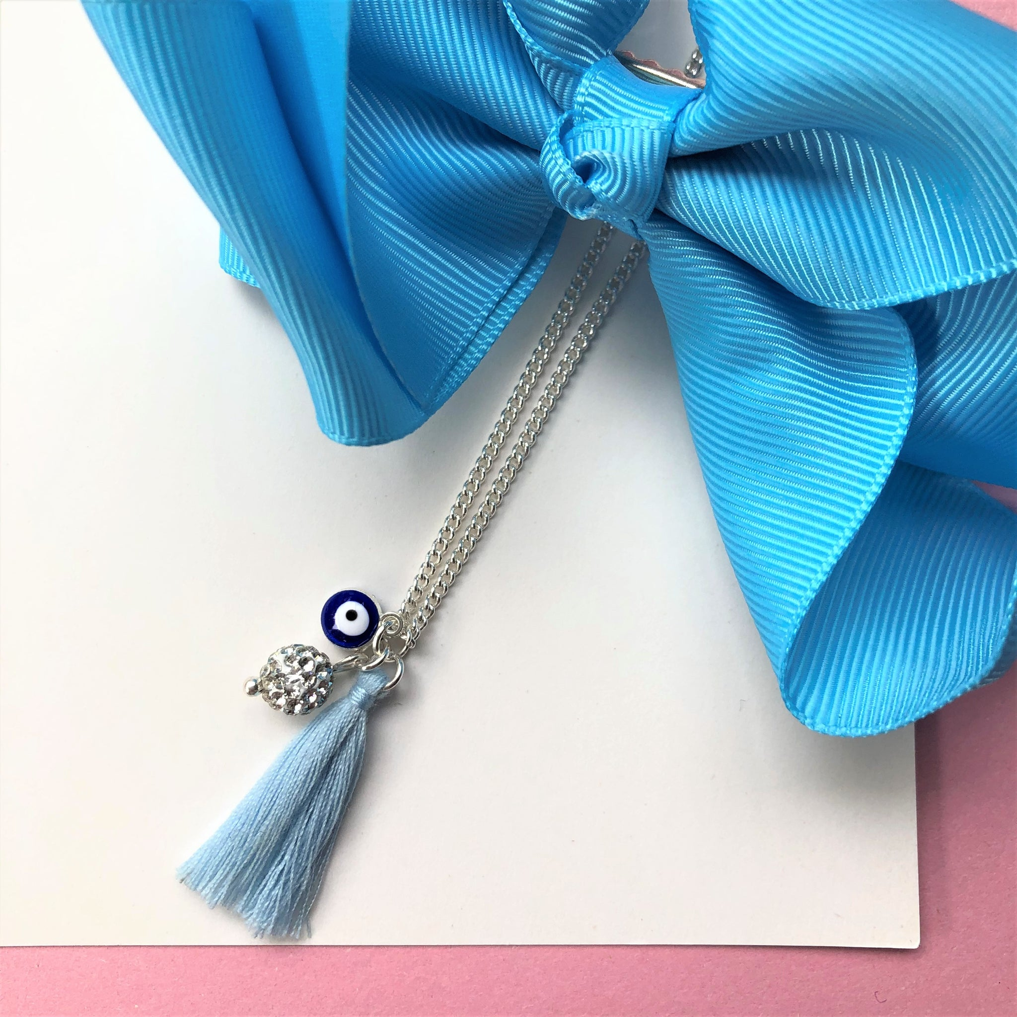 Evil Eye Necklace with tassel