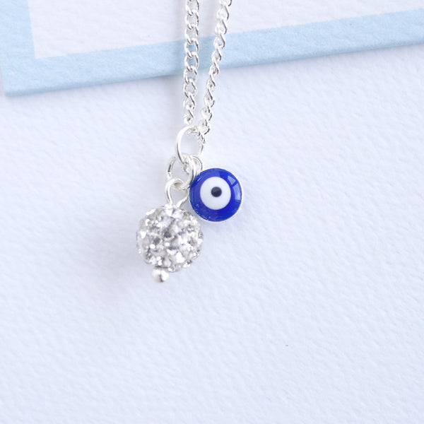 Good Luck Necklace with diamante ball