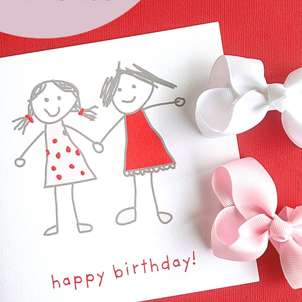 Best Friends  Happy Birthday Card