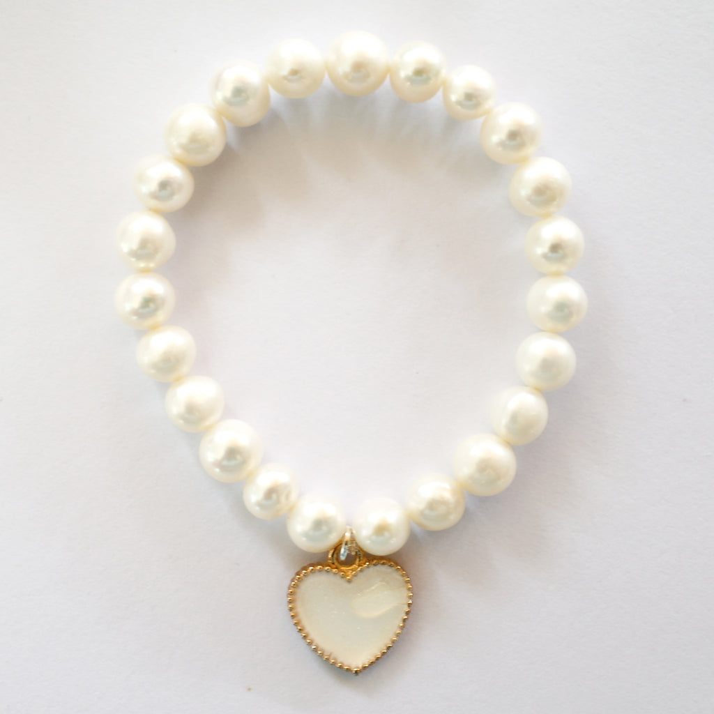 Freshwater Pearl Pure Heart Bracelet - coming soon