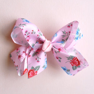 Pink Floral Bow - Set of 2