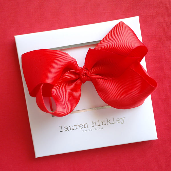 Bright Red Christmas Bow