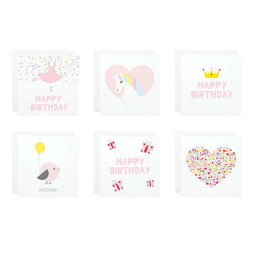 Pastel Cards Set of 6