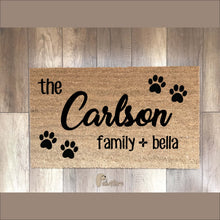 PERSONALIZED mat (family) - Pawsture Shop