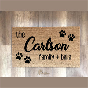 PERSONALIZED mat (family)
