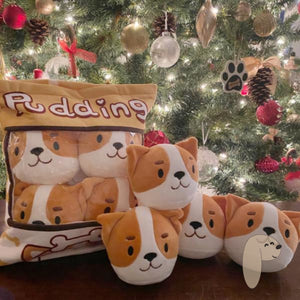 Pudding Puppers Pillow Plush Gift