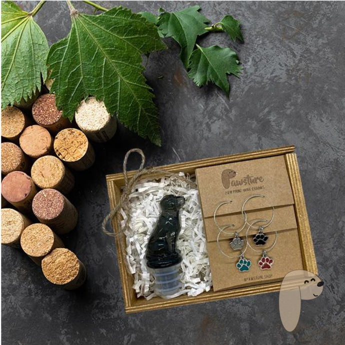WINE & DOG lover gift set - Pawsture Shop