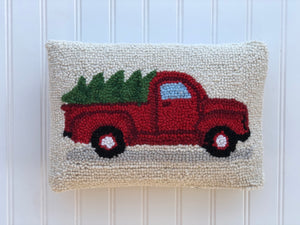Tree on Truck - Holiday pillow