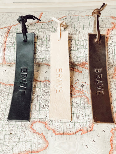 Brave - Leather Bookmark