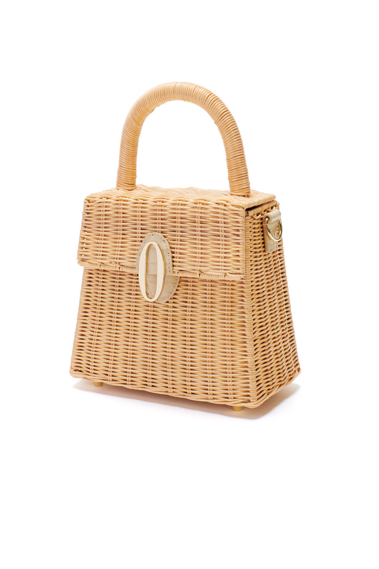 Lilah Wicker Basket bag side