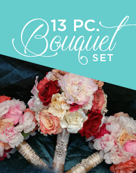 13 Pc. Bridal Bouquet Set
