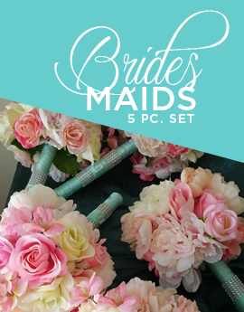 Bridesmaid Bouquets Set of 5