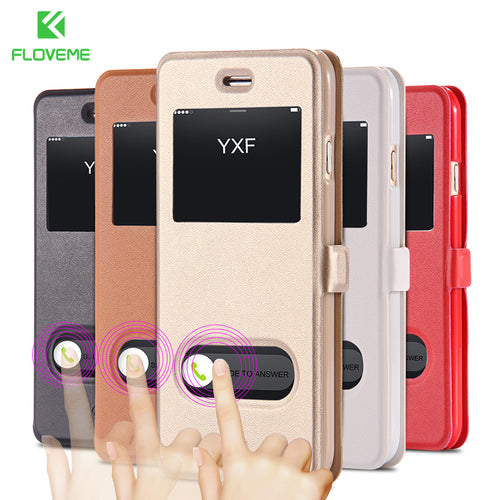 Magnetic Sliding Answer Calls Cases Coque Shell Housing For iPhone