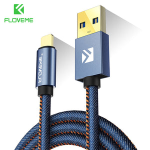 FLOVEMETEK Type C Cable For Samsung S8 Plus Xiaomi 6 5X Huawei P10 Meizu Pro 7 Leather Fast Charge USB Type-C Data Transfer Cables