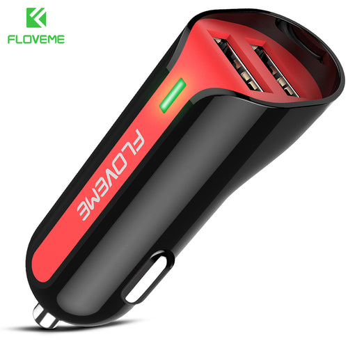 5V 2.4A Dual USB Car Charger For iPhone 7 8
