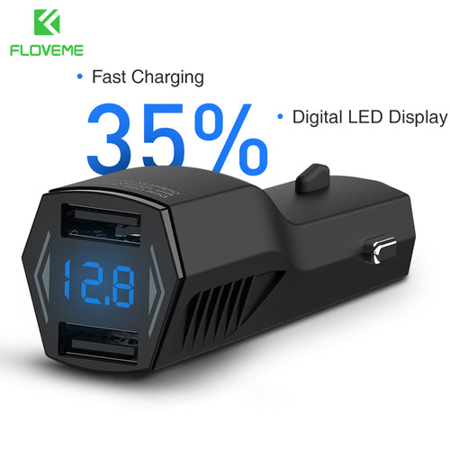 4.8A Dual USB Car Charger Digital LED Display Car-charger