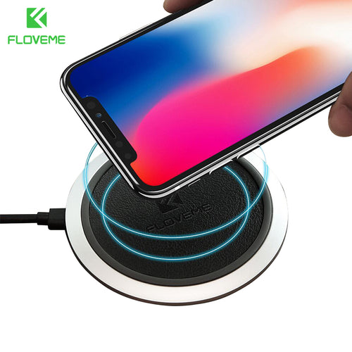 2 Types QI Wireless Charger Pad For iPhone 8 X 10 Universal Charging