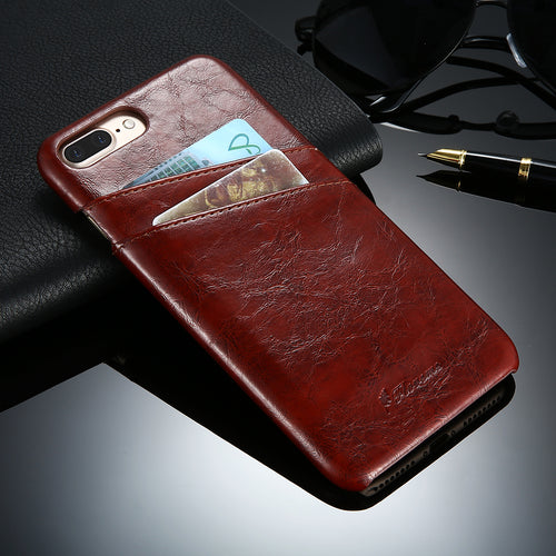 Leather Case For iPhone  Plus  Luxury Card Holder