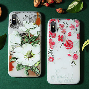3D Flower Silicon Case For iPhone