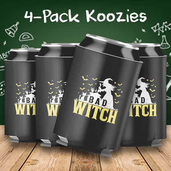 Bad Witch Halloween 4-Pack Can Coolers